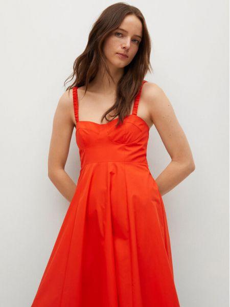 Czerwona sukienka casual Mango