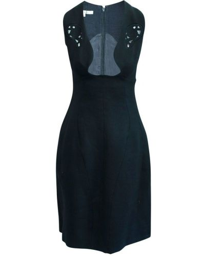 Sukienka elegancka z haftem Carven