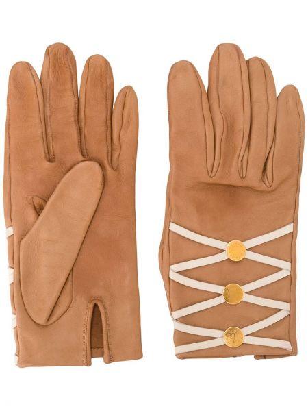 Ажурные кожаные перчатки Hermès Pre-owned