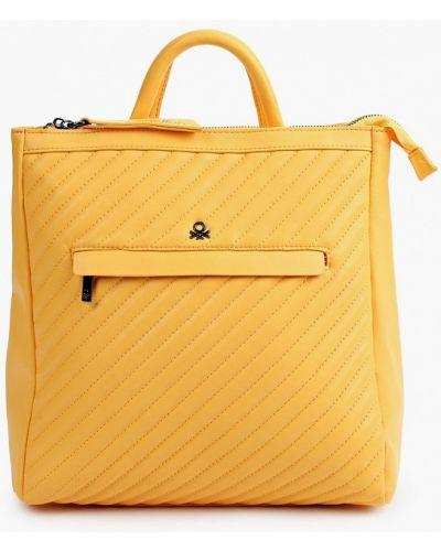 Желтый кожаный рюкзак United Colors Of Benetton