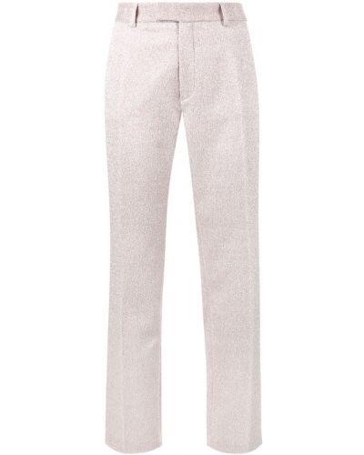 Розовые брюки с воротником с люрексом Jour/né