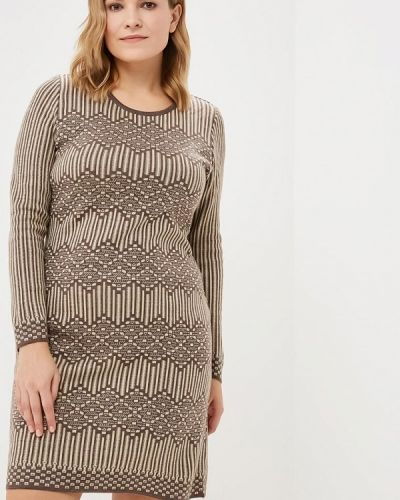 Платье осеннее бежевое Milana Style