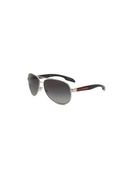 Комбинированные муслиновые солнцезащитные очки Prada Linea Rossa