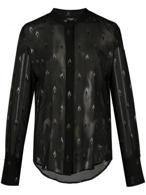 Шелковая рубашка - черная Equipment