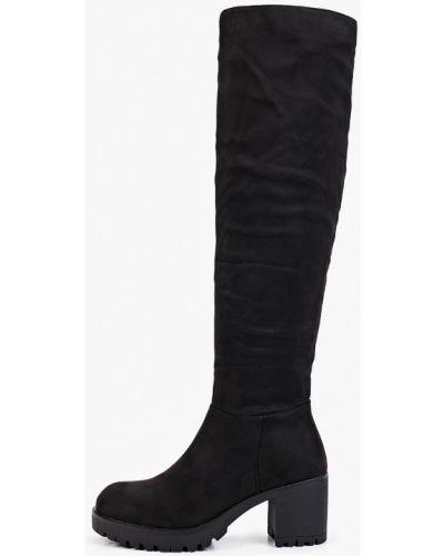Черные кожаные ботфорты Vera Blum