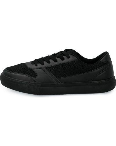 Кожаные черные кеды на шнуровке Gsd