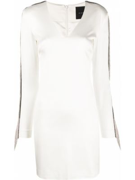 Облегающее платье мини с бахромой на молнии John Richmond