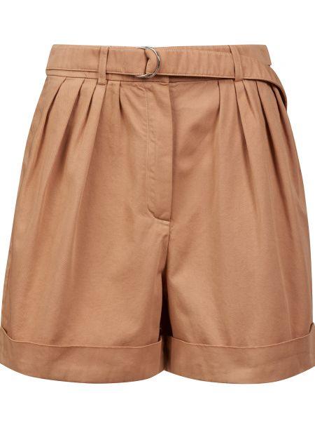 Хлопковые бежевые шорты с поясом Acne Studios