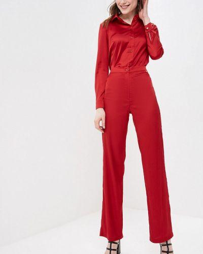 Облегающий красный брючный костюм Imocean