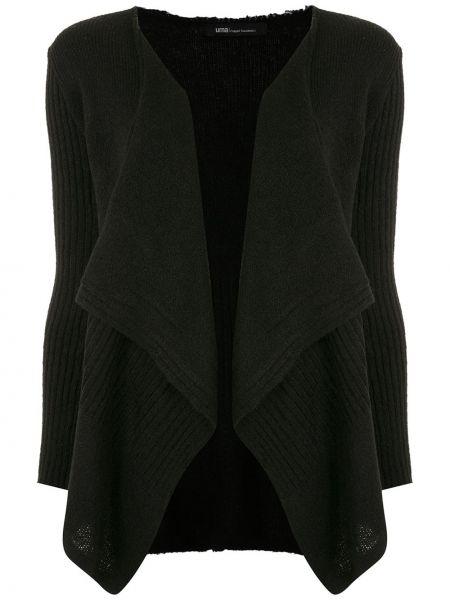 С рукавами черная блузка с длинным рукавом из вискозы Uma   Raquel Davidowicz