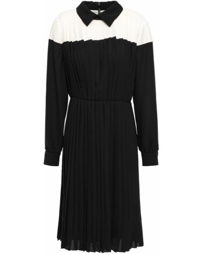 Плиссированное черное платье с подкладкой Mikael Aghal