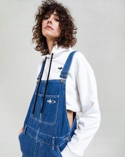 Bawełna bawełna niebieski spodni kombinezon na przyciskach Big Star