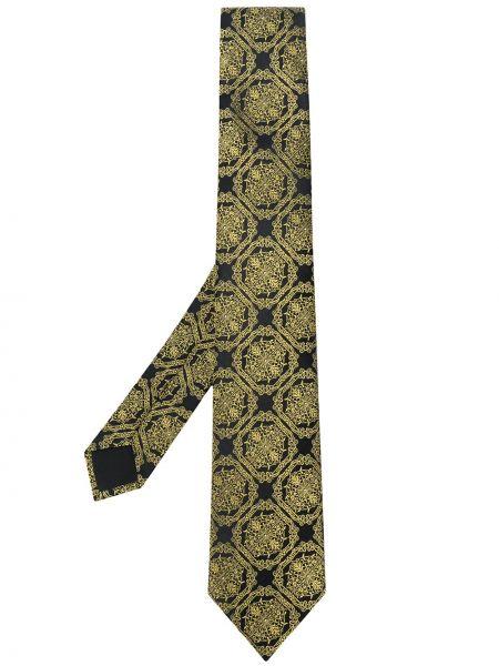 Złoty krawat - czarny Versace