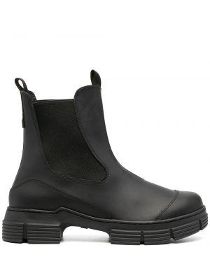 Ботинки на каблуке - черные Ganni
