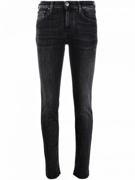 Хлопковые темно-синие зауженные джинсы-скинни Jacob Cohen