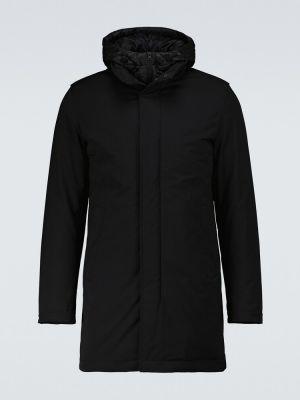 Черное пальто классическое Herno