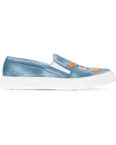 Кеды кожаный синий Del Toro Shoes
