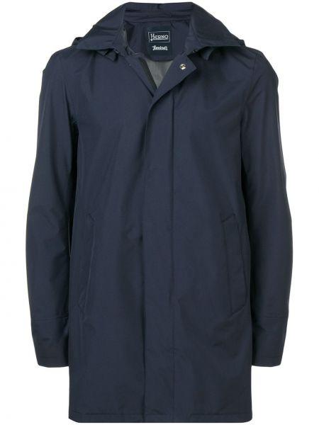 Płaszcz przeciwdeszczowy z kieszeniami niebieski Herno