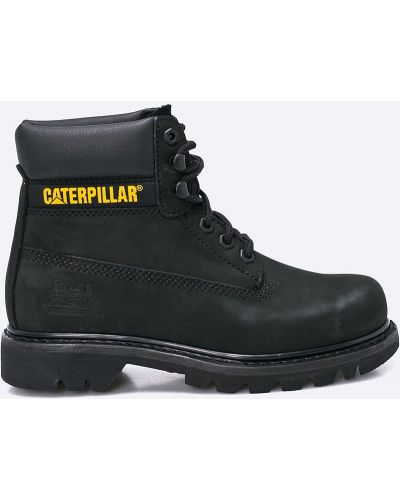 Кожаные сапоги кожаные черные Caterpillar