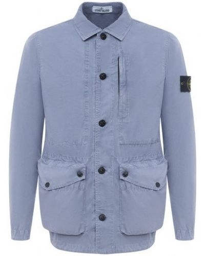Хлопковая синяя куртка Stone Island