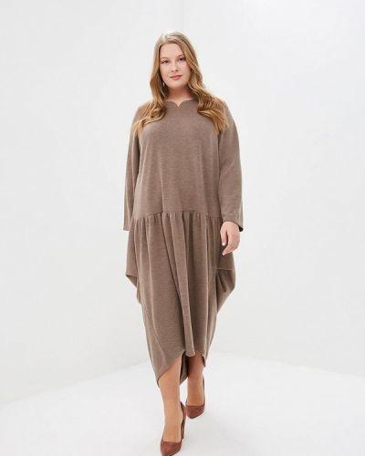 Платье - коричневое Darissa Fashion