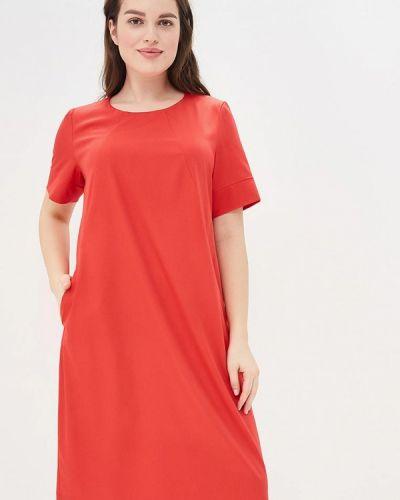 Платье весеннее красный Vis-a-vis