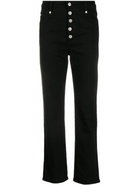 Черные укороченные брюки с поясом Miaou