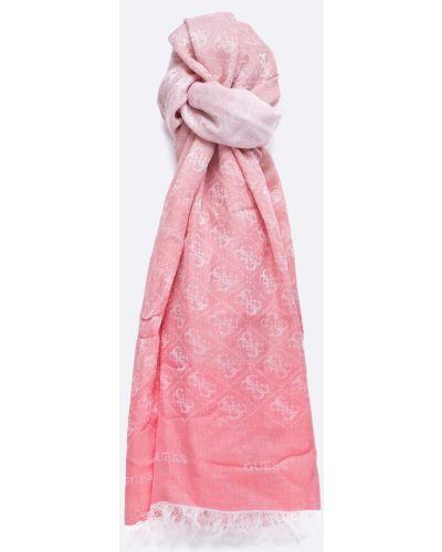Розовый шарф из вискозы Guess Jeans
