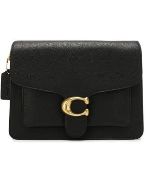 Кожаная сумка черная Coach