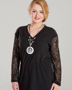 Блузка гипюровая с V-образным вырезом марита
