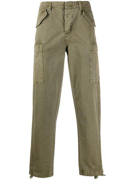 Зеленые прямые джинсы с карманами Neuw