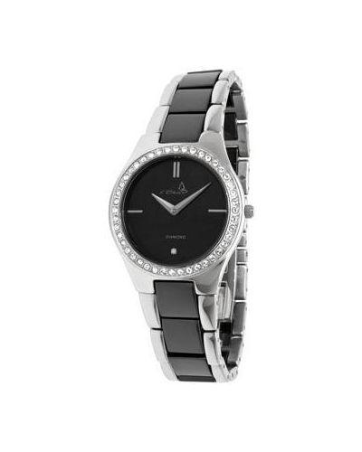 Кварцевые часы на металлическом браслете с бриллиантом с круглым циферблатом Le Chic
