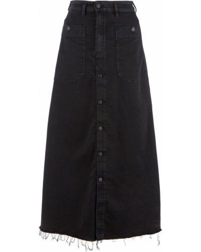 Черная расклешенная джинсовая юбка Diesel