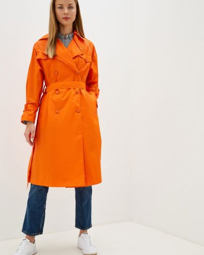 Плащ оранжевый United Colors Of Benetton