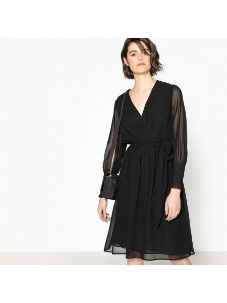 Платье миди коктейльное с запахом La Redoute Collections