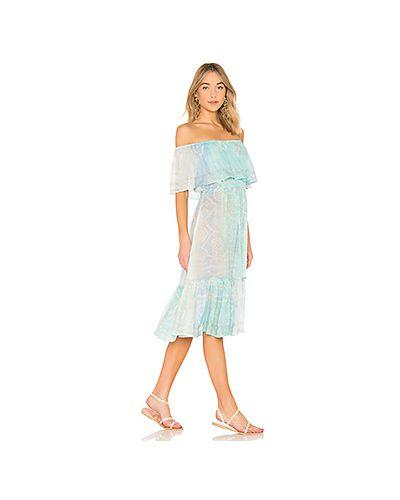 Платье с поясом со складками шелковое Juliet Dunn