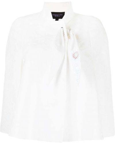 Biała narzutka bawełniana Shanghai Tang