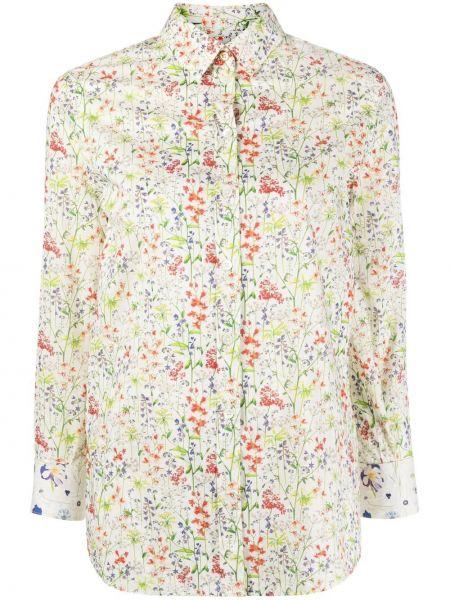 Белая классическая рубашка с длинными рукавами с воротником Paul Smith