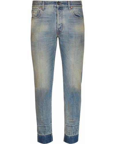 Голубые джинсы делаве Gucci