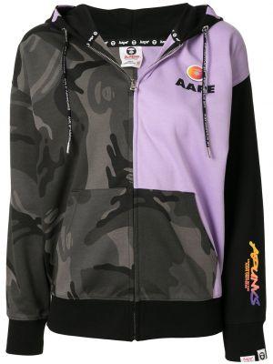 Фиолетовое худи с капюшоном на молнии Aape By A Bathing Ape