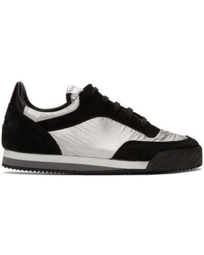 Czarne sneakersy skorzane sznurowane Comme Des Garcons Shirt