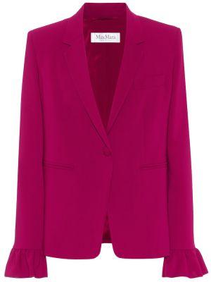 Костюмный шерстяной розовый пиджак Max Mara
