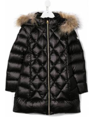 Стеганое черное пальто Treapi