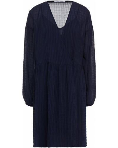 Синее платье мини с карманами с манжетами SamsØe Φ SamsØe
