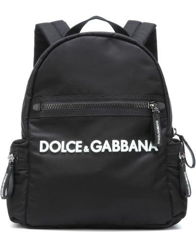 Рюкзак нейлоновый черный Dolce & Gabbana Kids