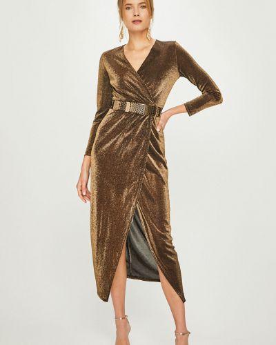 Платье макси с запахом с длинными рукавами Answear