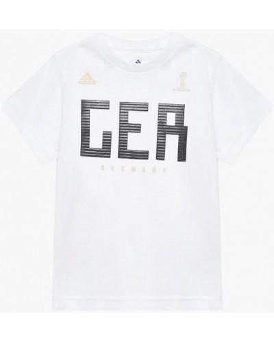 Футболка футбольный белый Adidas
