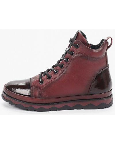 Лаковые красные кожаные ботинки Pierre Cardin