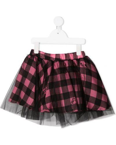 Czarna spódnica z haftem Miss Blumarine