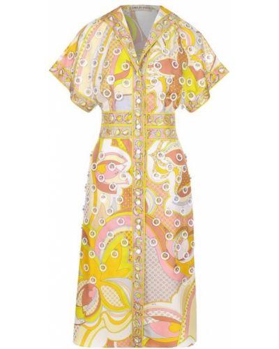 Платье приталенное с отложным воротником Emilio Pucci